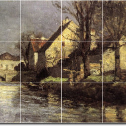 Picture-Tiles, LLC - Canal Schlessheim Tile Mural By Theodore Steele - * MURAL SIZE: 12.75x17 inch tile mural using (12) 4.25x4.25 ceramic tiles-satin finish.