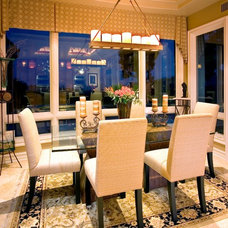Contemporary Dining Room by KK Design Koncepts