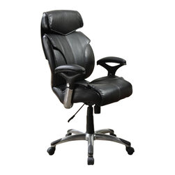 Serta by True Innovations - Serta Commercial Office Chair in Black Bonded Leather - Serta by True Innovations - Office Chairs - 44425 - For more than 75 years, Serta has been an industry leader in comfort products worldwide. That tradition of innovation and quality continues today. From a brand that is synonymous with quality, comfort and style, the Serta Big and Tall Executive office chair is upholstered in 100% soft and durable Smooth Black eco-friendly bonded leather. It carries a durable Commercial About This Product:
