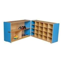 Wood Designs Half and Half Storage without Trays - About WDM Inc.For 30 years, Wood Designs has put passion for the enrichment and safety of children into quality, wooden early learning furniture. Dennis and Debbie Gosney, the couple behind this labor of love, have taken their 50 years combined experience in child development furniture manufacturing and built a company at the forefront of innovation and safety. Intuitive design coupled with novel safety features like Pinch-me-not hinges and Tip resistant furniture set Wood Designs apart from the typical early learning furniture manufacturers.