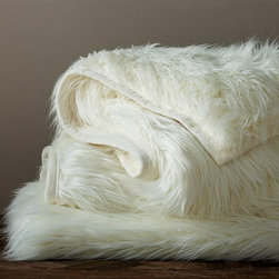 Faux Fur Throw, Long Shaggy - Sheepskin blankets are my favorite for a lazy fall afternoon.