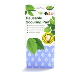 Reusable Scouring Pad 2pc - Cleans with unique micro-fine bristles. Gentle scouring and wiping to remove the toughest grime. Replaces rusty scouring pads. Safe for ceramic stove tops.