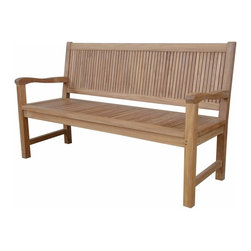Anderson Outdoor Furniture - Chester 3-Seater Bench - Bring the charm and comfort of an English garden to your yard, patio or poolside with this expertly crafted solid teak bench. And, since it's wide enough to seat three, there's plenty of room to invite your friends.