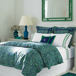 Lilly Pulitzer Thrill of the Chase Comforter Cover - I can't think of anything more refreshing to wake up to than this cool emerald set by Lilly Pulitzer.