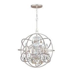 Crystorama - Mini Chandelier - Crystal chandeliers are glamorous and old Hollywood. We have expanded our best selling Solaris Collection to add crystal elements inside the perfect sphere. We have married the contemporary sphere with the cut crystal chandelier, making the most beautiful jewelry for the room.