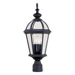 Maxim Lighting - Maxim Lighting 1023BK Builder Cast 3-Light Outdoor Pole/Post Lantern In Black - Features