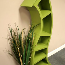 6-Foot Curved Bookshelf By Wood Curve - For lovers of Dr. Seuss, this bookshelf would definitely add some whimsy to the room!