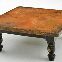 Copper Coffee Table - Wood Pedestal Base - Copper Coffee Table - Wood Pedestal Base #2