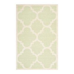 Safavieh - Cora Hand Tufted Rug, Light Green / Ivory 5' X 8' - Construction Method: Hand Tufted. Country of Origin: India. Care Instructions: Vacuum Regularly To Prevent Dust And Crumbs From Settling Into The Roots Of The Fibers. Avoid Direct And Continuous Exposure To Sunlight. Use Rug Protectors Under The Legs Of Heavy Furniture To Avoid Flattening Piles. Do Not Pull Loose Ends; Clip Them With Scissors To Remove. Turn Carpet Occasionally To Equalize Wear. Remove Spills Immediately. Bring classic style to your bedroom, living room, or home office with a richly-dimensional Safavieh Cambridge Rug. Artfully hand-tufted, these plush wool area rugs are crafted with plush and loop textures to highlight timeless motifs updated for today's homes in fashion colors.