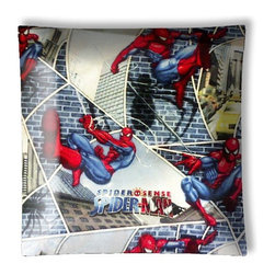 "Spiderman Superhero Ceiling Light - 12"" square semi flushmount ceiling lamp with designer finish. Includes complete installation instructions and complete light fixture. Wipes clean with a damp cloth. Uses 2-60 watt bulbs (not included) and is made with eco-friendly/non-toxic products. This is not a licensed product, but is made with fully licensed products."