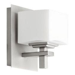 "Quorum International - Quorum International 5665-1 6"" Height 1 Light Bathroom Sconce with Satin Opal Sh - Features:"
