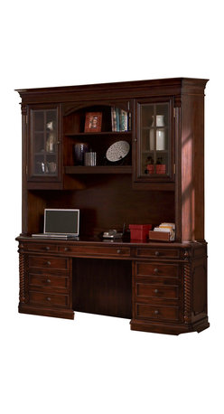 Coaster - Coaster Doyle Home Office Credenza and Hutch in Rich Brown Finish - Coaster Doyle Home Office Credenza and Hutch in Rich Brown Finish 800566D800566H