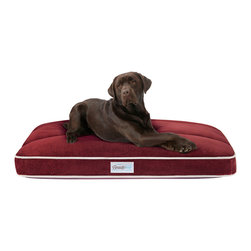 """Beautyrest - Beautyrest Bailey Premium Plush Channel Top Napper - BeautyRest � Channel Top Napper features three pockets stuffed with recycled polyfil, creating well-defined channels that prevent the fill from shifting and bunching. Luxurious cover boasts SilkTouch fabric that invites your pet to dive in for a pampering, restful sleep. A zippered liner inside the cover features springy polyfil. Finally, a 1"""" base of supportive polyester batting provides one more barrier between your pet and hard floors. Unbelievable softness and affordable luxury for your comfort-craving dog. Zippered, machine washable cover with contrasting piping and non-skid bottom. All over Silk Touch cover has built in Channel quilted pillowtop; 1"""" Bonded pad provides extra support with polyester filled liner; Zippered covers."""