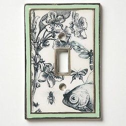 Biology Decoupage Cover - I'll take one for each room, please. This switchplate, featuring fish, bees and flora, is a sweet detail that is easy to add to any space.Dimensions not available. Made of powder-coated iron.