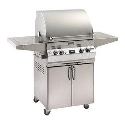 """Fire Magic - Aurora A530s1E1P62 Stand Alone LP Grill with Single Side Burner - A530 Stand Alone Grill with Single Side Burner A530s Features: Cast stainless steel """"E"""" burners - guaranteed for life"""