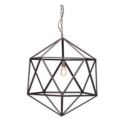 Amethyst Ceiling Lamp, Large - Metal.
