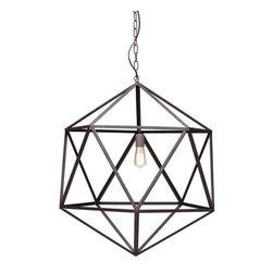 Amethyst Ceiling Lamp, Large - Metal.