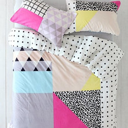 Assembly Home Pattern Block Duvet Cover - This bedding is fun and fabulous — but not the least bit calming. Sometimes you want your bed to feel like a festive vacation instead of a relaxing one, right?