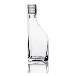 Bomma - 3.2.1 Collection 33.8 oz Large Decanter - The 3.2.1 Collection 33.8 oz large decanter is a stylish choice for enjoying your next libation.  About the design of 3.2.1, designer Jeff Miller said, In conceiving of a contemporary collection of crystal I wanted to strip away a lot of the pomp and let the flowing vessels of clarity speak for themselves. The decanters' rounded triangular bases afford complementary juxtaposition, and the seamless vertical morphing of that triangle into a circular column is what gives the collection its name and essential character. The 3.2.1. decanters boast a heavy, chunky stopper that puts a substantial mass of crystal in the palm. The stoppers are hand-etched with a delineated clean modern detail, and it's the cue for rounding out the rest of the line. The tumblers and drinking glasses, also hand-etched, rely on the same measure of base and texture to provide a pleasant weight and a good feel.