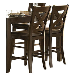 Homelegance - Homelegance Crown Point Leather Counter Height Chair in Merlot [Set of 2] - Adorn your dining area with Crown Point collection. This grand scale casual dining in warm merlot finish is as strong and durable as they are stunning.