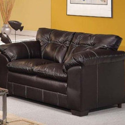 Acme Furniture - Hayley Onyx Bonded Leather Loveseat - 50351 - Hayley Collection Loveseat
