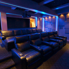 Transitional Home Theater by Gramophone