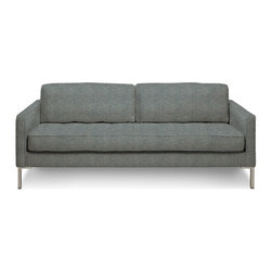 "Blu Dot - ""Blu Dot Paramount Medium Sofa, Ceramic"" - ""As comfortable as your favorite jeans. As versatile as a little black dress. This classic sofa can go anywhere in style but don't be surprised if it steals the limelight in its own quiet way. Available in ash, ceramic, graphite, lead, oatmeal, pebble, smoke or stone. """