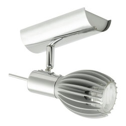 Eglo - Eglo 89587A 1 Light Semi-Flush Ceiling Fixture from the Spico Collection - Eglo 89587A Spico 1 Light Semi-Flush Ceiling FixtureDazzling the eyes with its ultra modern design, this semi-flush ceiling fixture from the Spico Collection features a flanged metallic globe shaped shade and chrome hardware that gives it a uniquely modern look that will bring out the sophistication of any room.Eglo 89587A Features: