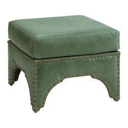 Candemir Leather Ottoman, Blue Green - I'm always tempted to include items with a worldly feel in kids' spaces to infuse a sense of wanderlust in them. This Moroccan-inspired green leather ottoman is a great option.