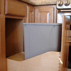 Traditional Kitchen Trash Cans by Castle Kitchens and Interiors
