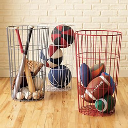 Kids Flea Market Wire Ball Bins