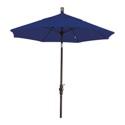 None - Ultra Premium Sunbrella 7.5-foot Patio Umbrella (5 Colors) - Create shade anywhere you need it with this ultra-premium 7.5-foot patio umbrella by Sunbrella. The tough aluminum pole is paired with an innovative fiberglass rib system which adds flexibility under windy conditions.