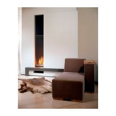 Contemporary built-in fireplace (gas closed hearth) - VERTICAL BELL LARGE - Bell