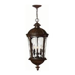 Hinkley Lighting - Hinkley Lighting 1892RK Windsor Lantern in River Rock - Hinkley Lighting 1892RK Windsor Lantern in River Rock