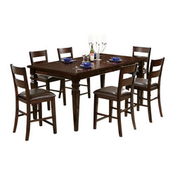 Steve Silver Gibson 8 Piece 48x42 Counter Height Set w/ Counter Height Chairs in