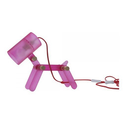 ParrotUncle - Happy Dog Acrylic Desk Lamp, Pink - Complete your modern décor with this impressive dog shaped desk lamp. Through the translucent acrylic material, this lamp diffuses a warm and romantic light. Each articulated joints of the body can move flexibly, allowing it to post a variety of gestures. Bring it home and place on your desk to make your space full of vibrancy and joyfulness.