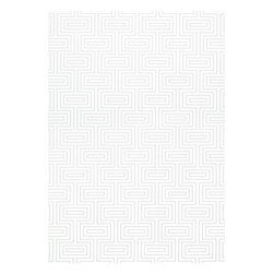 Thibaut - Mod Squares Wallpaper, Metallic on White - Construction Wallpaper