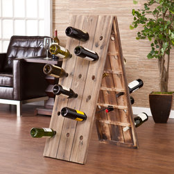 Upton Home - Upton Home Bustillo 36-Bottle Riddling Wine Rack Display - An elegant way to store your favorite wine,this elegant wine rack by Bustillo will hold up to 36 bottles of vino. An excellent conversation piece,this rack will add a rustic feel to anywhere you entertain guests,and it comes already assembled.