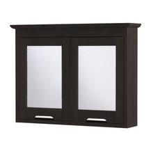 Kai Legaard - FREDEN Mirror cabinet - Mirror cabinet, black-brown