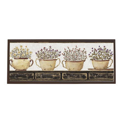 illumalite Designs - Herb Rectangular Plaque - Includes hardware for hanging. Hand painted brown border. Ready to be hung. Made from wood. Made in USA. 25.5 in. W x 10 in. H (4 lbs.)This herb themed plaque is the perfect addition to any kitchen. This plaque is the ideal size to add a country touch to any wall.