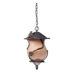 Triarch International - Triarch 75137-12 Froggy Weathered Bronze Outdoor Hanging Lantern - Triarch 75137-12 Froggy Weathered Bronze Outdoor Hanging Lantern