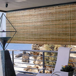 """Lewis Hyman - Laguna Roll-Up Bamboo Blind in Natural Finish - Choose Size: 96 in. W x 72 in. LAdd an island inspired appeal to your home's decor with this roll-up bamboo blind, featuring a tight, light filtering weave that will add warmth and an earthy style to a sun porch, patio, living room or bedroom. The blind is in natural finish and is available in your choice of sizes. 72 in. L. Made from Bamboo. 6 in. built-in valance. Light filtering. Easy to install. Each shade measures 1/2"""" less in width to allow for inside mount installation. Clean with damp cloth and vacuum. Minimal assembly requiredStrong rustic bamboo sparks images of a warm afternoon on a tropical island."""