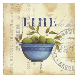 Zest of Limes - Canvas Print - Daphne Brisonnet - Zest of Limes by Daphne Brissonnet
