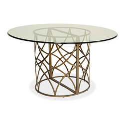 Universal Furniture - Round Pedestal Dining Table with Glass Top -