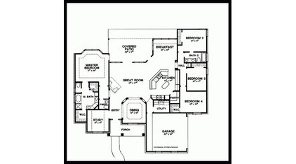 Eplans New American House Plan - Four Bedroom New American - 2500 Square Feet an