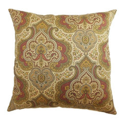 Pillow Collection - The Pillow Collection Danielle Paisley Pillow - P18-42070-AQUACOCOA-C95L5 - Shop for Pillows from Hayneedle.com! Like a magic carpet The Pillow Collection Danielle Paisley Pillow will transport your style to far-off exotic lands. Made of 95% cotton and 5% linen this stately square pillow features a plush 95/5 feather/down insert. The bold colors and Moroccan-inspired print is available in various colors so you can get the perfect look for your room.About The Pillow CollectionIdentical twin brothers Adam and Kyle started The Pillow Collection with a simple objective. They wanted to create an extensive selection of beautiful and affordable throw pillows. Their father is a renowned interior designer and they developed a deep appreciation of style from him. They hand select all fabrics to find the perfect cottons linens damasks and silks in a variety of colors patterns and designs. Standard features include hidden full-length zippers and luxurious high polyester fiber or down blended inserts. At The Pillow Collection they know that a throw pillow makes a room.