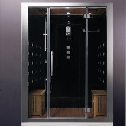 Ariel Bath - Ariel Platinum DZ972F8 White Steam Shower - These fully loaded steam showers include massage jets, ceiling & handheld showerheads, chromotherapy, aromatherapy and built in radios to help maximize the therapeutic experience