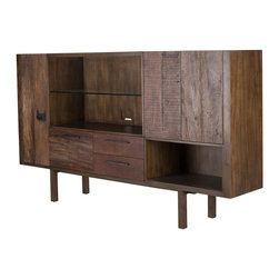 Four Hands - Mick TV Media Cabinet - In the realm of environmentally conscious design, one name stands apart: Thomas Bina, a designer known as much for timeless style as livable furnishings crafted by hand from sustainably harvested and reclaimed woods. Juxtaposing warm patinas with rough and refined woods, his designs lend a sense of history to any space, though never appear dated. The artistic use of tone ensures every one-of-a-kind piece is a focal point able to blend beautifully with others. This item comes standard with free in-home delivery.