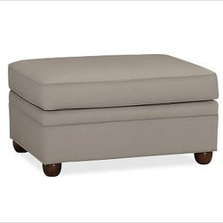 """Chesterfield Upholstered Ottoman, Washed/Linen Cotton Stone - Comfort and style define our Chesterfield Collection. Crafted in the America using eco-friendly components, our ottoman works equally well as additional seating or as a footrest companion to the Chesterfield Sofa or Armchair. 38"""" w x 27"""" d x 21"""" h {{link path='pages/popups/PB-FG-Chesterfield-3.html' class='popup' width='720' height='800'}}View the dimension diagram for more information{{/link}}. {{link path='pages/popups/PB-FG-Chesterfield-4.html' class='popup' width='720' height='800'}}The fit & measuring guide should be read prior to placing your order{{/link}}. Ottoman has a polyester wrapped cushion. Proudly made in America, {{link path='/stylehouse/videos/videos/pbq_v36_rel.html?cm_sp=Video_PIP-_-PBQUALITY-_-SUTTER_STREET' class='popup' width='950' height='300'}}view video{{/link}}. For shipping and return information, click on the shipping info tab. When making your selection, see the Special Order fabrics below. {{link path='pages/popups/PB-FG-Chesterfield-5.html' class='popup' width='720' height='800'}} Additional fabrics not shown below can be seen here{{/link}}. Please call 1.888.779.5176 to place your order for these additional fabrics."""