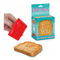 I Love You Toast Stamper - Let's face it: If Valentine's Day happens on a busy morning, you'll want an easy way to celebrate that still says I love you. This lets you say it on your morning toast.